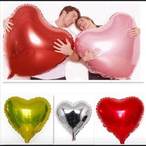 Shiny heart balloons